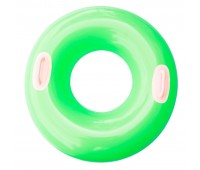 59258-3. Надувной круг c ручками (76 см) зеленый. Intex