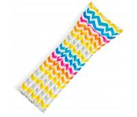59711-5. Матрас надувной пляжный Action Print Mats с подголовником (зигзаг). Intex