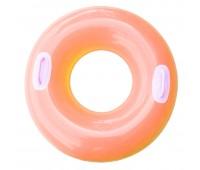 59258-2. Надувной круг c ручками (76 см) оранжевый. Intex