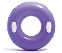 59258-4. Надувной круг c ручками (76 см) фиолетовый. Intex