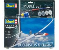 63961 Model Set Самолет Gliderplane Duo Discus, 1:32, Revell