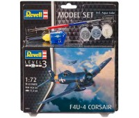 63955 Model Set Самолет Літак F4U-4 Corsair, 1:72, Revell