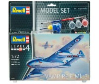 63934 Model Set Истребитель Vampire F Mk.3, 1:72 Revell