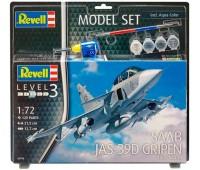 63956 Model Set Самолет Saab JAS-39D Gripen TwinSeater, 1:72, Revell