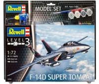 63960 Model Set Самолет F-14D Super Tomcat, 1:72, Revell