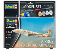 63968 Model Set Самолет Airbus A320 ETIHAD AIRWAYS, 1:144, Revell