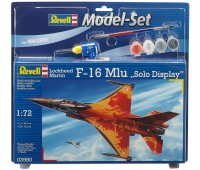 63980 Model Set Самолет F-16 Mlu Solo Display; 1:72, Revell
