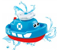 58049-2 Кораблик-фонтан, игрушка для купания (синий), BeBeLino