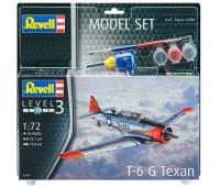 63924 Model Set Легкий самолет T-6 G Texan, 1:72, Revell