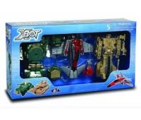 X-bot. Игровой набор - Робот-Трансформер, танк (зеленый), самолет, танк (бежевый). 82040R