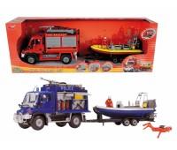 """Dickie. Игровой набор """"Спасательный трейлер"""" с лодкой. 3314867"""