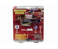 """Dickie. Мини набор """"Спасательная служба"""" с вертолётом и пожарной машиной. 3315386"""