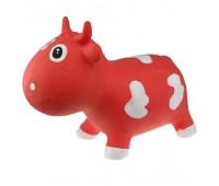 "KFMC130108. Попрыгунчик ""Коровка Белла"" оранжево-билa (с насосом) Milk Cow Bella - Rood & White. Kidzzfarm"