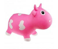 "KFMC130104. Попрыгунчик ""Коровка Белла"" розово-билa (с насосом) Milk Cow Bella - Pink & White. Kidzzfarm"