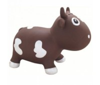 "KFMC130107. Попрыгунчик ""Коровка Белла"" шоколадно-билa (с насосом) Milk Cow Bella - Chocolate & White. Kidzzfarm"