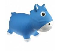 """KFPO130203. Попрыгунчик """"Конек Гарри"""" сине-белый (с насосом) / Horse Harry - Blue & White. Kidzzfarm"""