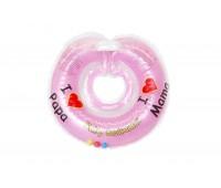 """Круг Babyswimmer розовый с погремушками. Серия """"Я люблю"""" Вес 6 - 36 кг"""