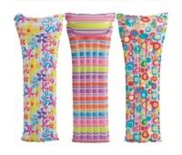 59711-3. Матрас надувной пляжный Action Print Mats с подголовником (цветочки). Intex