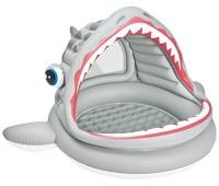 """57120. Бассейн надувной (3шт)""""Акула"""", реф.дно(1-3 года)рем комплект,тент,в кор. Intex"""