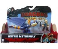 SM66594-6. Астрид и дракон Громгильда в фиолетовом окрасе, (19 см), Как приручить дракона. Spin Master