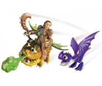 SM66594-9. Валка с малышами Змеевиком и Громмелем, (6 см), Как приручить дракона. Spin Master