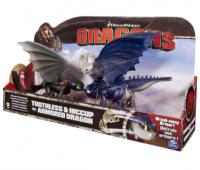 SM66599-2. Беззубик и Иккинг против синего дракона в броне. Spin Master