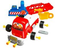 58013 Конструктор Пожарная машина с дорожными знаками, BeBeLino