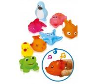 55057 Игрушки-пищалки для ванной Водные жители, BeBeLino