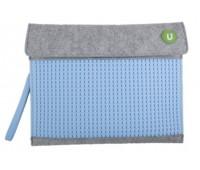 WY-B010Wu. Клатч для планшета серо-голубой. Upixel