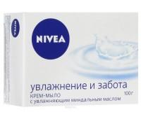 """80608. Крем-мыло """"Нежное увлажнение"""", 100г. Nivea"""