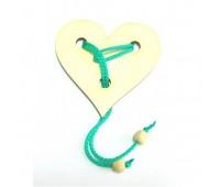 0014. Мини-головоломка веревочная Сердце. Крутиголовка