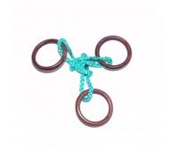 0011. Мини-головоломка веревочная Три кольца. Крутиголовка