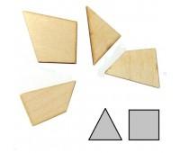0006. Мини-головоломка геометрическая Треугольник. Крутиголовка