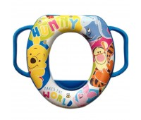 8679. Накладка на унитаз Winnie the Pooh голубая. OKT