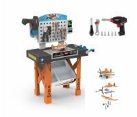 """Smoby. Bao. Cars-planes. Игровой набор """"PLANES. Мастерская"""" со столом и инструментами. 500255"""