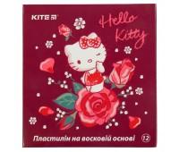 HK19-1086 Пластилин восковой Kite Hello Kitty HK19-1086, 12 цветов, 240 г. Kite