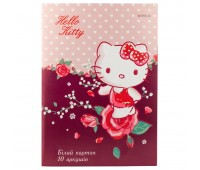 HK19-254 Картон белый односторонний Kite Hello Kitty HK19-254, А4, 10 листов, папка. Kite
