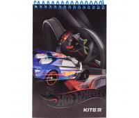 HW19-196 Блокнот пластиковый KITE Hot Wheels HW19-196 K19-195-4, А6, 48 листов, нелинованный. Kite