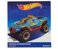 HW19-1086 Пластилин восковой Kite Hot Wheels HW19-1086, 12 цветов, 240 г. Kite