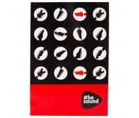 K19-194-6 Блокнот-планшет Kite Be Sound K19-194-6, А5, 50 листов, клетка. Kite