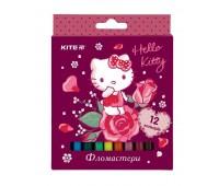 HK19-047 Фломастеры Kite Hello Kitty HK19-047, 12 цветов. Kite