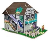 """CubicFun. Трехмерная головоломка-конструктор """"Цветочный магазинчик"""" серии Франция. W3120h"""