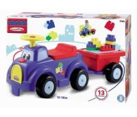 Ecoiffier. Abrick. Машина для катания малыша с прицепом и конструктором. 007760