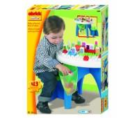 Ecoiffier. Abrick. Развивающий конструктор (стол+стульчик+блоки). 001590