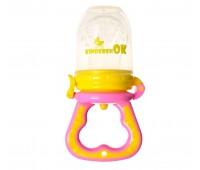101113. Ниблер силиконовый для кормления младенца с дополнительной насадкой. Kinderenok