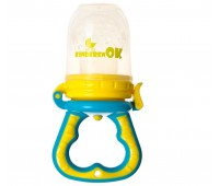 121113. Ниблер силиконовый для кормления младенца с дополнительной насадкой (синий). Kinderenok