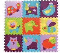 """GB-M129А2. Детский игровой коврик-пазл """"Веселый зоопарк"""" 92х92 см. Baby Great"""