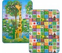 """LP012-120 Детский двухсторонний коврик для игры и развития """"Большая жирафа и Красочная азбука"""", 120х180 см Limpopo"""