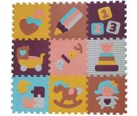 """GB-M1601. Детский игровой коврик-пазл """"Интересные забавы"""", 92х92 см. Baby Great"""