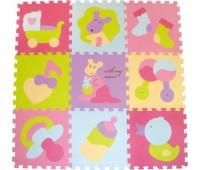 """GB-M129KB. Детский игровой коврик-пазл """"Маленький кенгуренок"""" 92х92 см. Baby Great"""